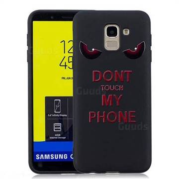 best loved ca84b a8509 Red Eyes 3D Embossed Relief Black Soft Back Cover for Samsung Galaxy J6  (2018) SM-J600F