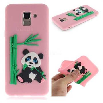 reputable site daba7 17c62 Panda Eating Bamboo Soft 3D Silicone Case for Samsung Galaxy J6 (2018)  SM-J600F - Pink