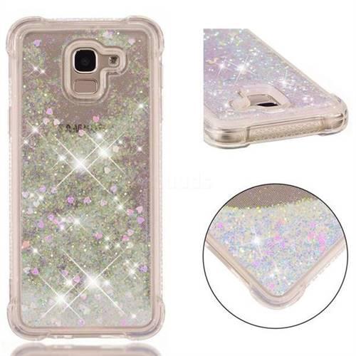 Dynamic Liquid Glitter Sand Quicksand Star TPU Case for Samsung Galaxy J6 (2018) SM-J600F - Pink