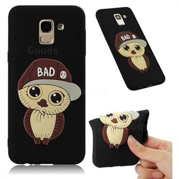 Bad Boy Owl Soft 3D Silicone Case for Samsung Galaxy J6 (2018) SM-J600F - Black