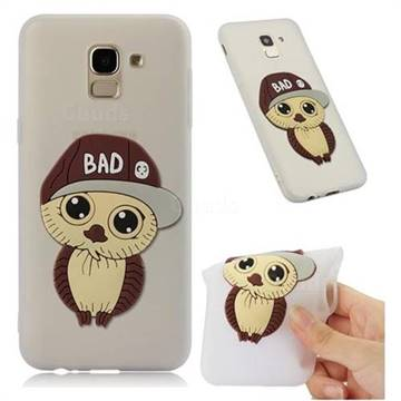 Bad Boy Owl Soft 3D Silicone Case for Samsung Galaxy J6 (2018) SM-J600F - Translucent White