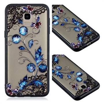 Butterfly Lace Diamond Flower Soft TPU Back Cover for Samsung Galaxy J6 (2018) SM-J600F