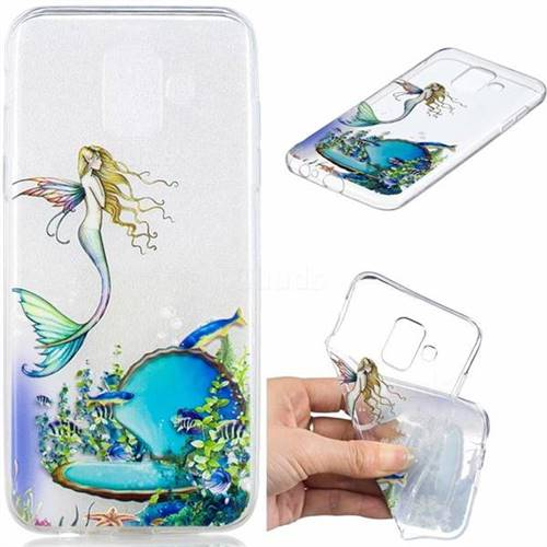 Mermaid Clear Varnish Soft Phone Back Cover for Samsung Galaxy J6 (2018) SM-J600F