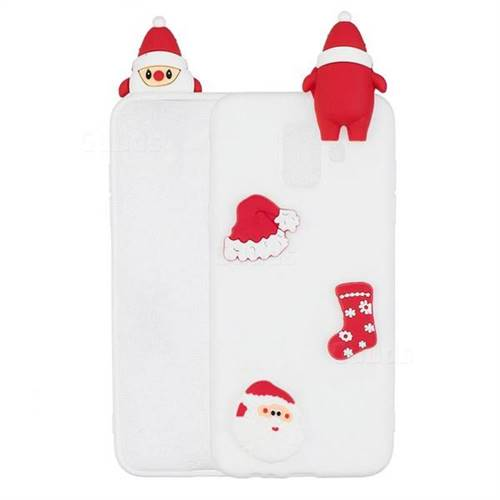 White Santa Claus Christmas Xmax Soft 3D Silicone Case for Samsung Galaxy J6 (2018) SM-J600F