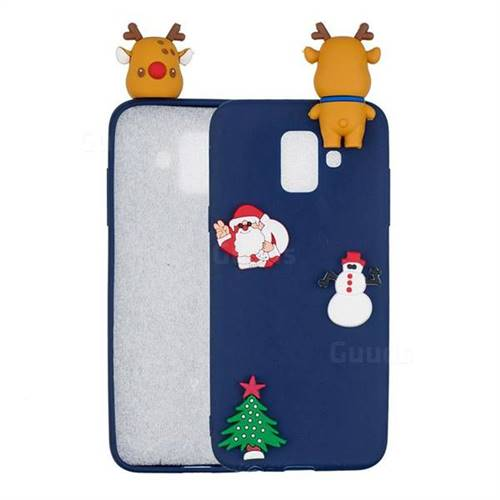 Navy Elk Christmas Xmax Soft 3D Silicone Case for Samsung Galaxy J6 (2018) SM-J600F