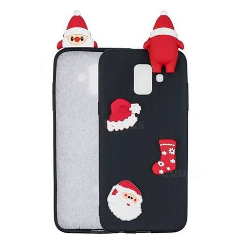 Black Santa Claus Christmas Xmax Soft 3D Silicone Case for Samsung Galaxy J6 (2018) SM-J600F
