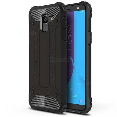 King Kong Armor Premium Shockproof Dual Layer Rugged Hard Cover for Samsung Galaxy J6 (2018) SM-J600F - Black Gold