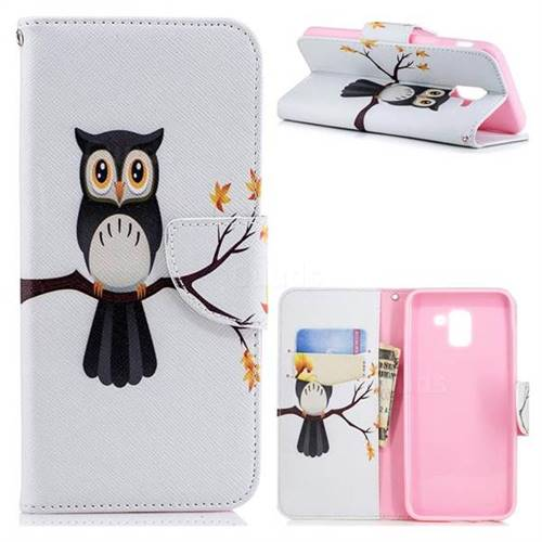 Owl on Tree Leather Wallet Case for Samsung Galaxy J6 (2018) SM-J600F