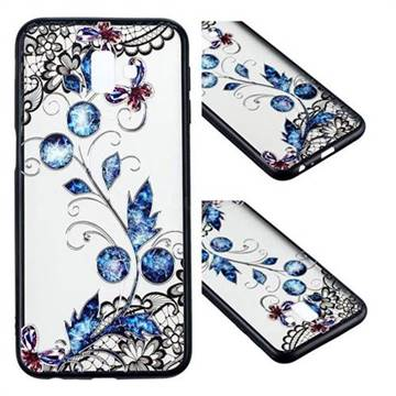 Butterfly Lace Diamond Flower Soft TPU Back Cover for Samsung Galaxy J6 Plus / J6 Prime