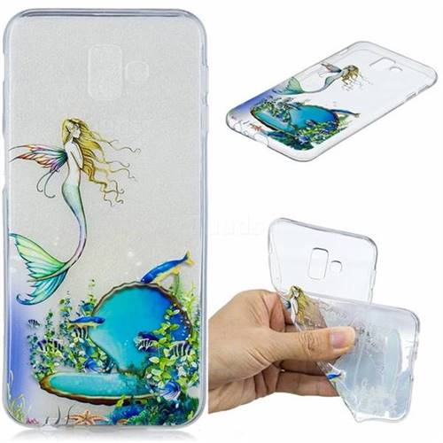Mermaid Clear Varnish Soft Phone Back Cover for Samsung Galaxy J6 Plus / J6 Prime