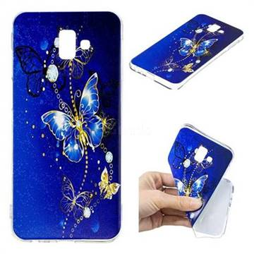 low cost 161ac 799c8 Gold and Blue Butterfly Super Clear Soft TPU Back Cover for Samsung Galaxy  J6 Plus / J6 Prime