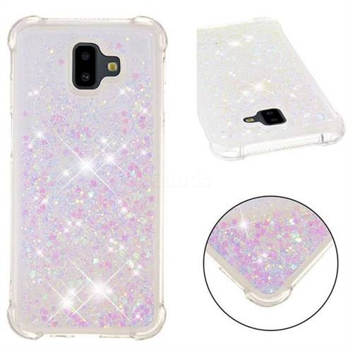 Dynamic Liquid Glitter Sand Quicksand Star TPU Case for Samsung Galaxy J6 Plus / J6 Prime - Pink