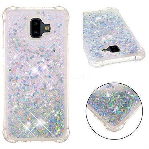 Dynamic Liquid Glitter Sand Quicksand Star TPU Case for Samsung Galaxy J6 Plus / J6 Prime - Silver