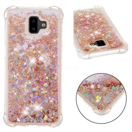 Dynamic Liquid Glitter Sand Quicksand Star TPU Case for Samsung Galaxy J6 Plus / J6 Prime - Diamond Gold