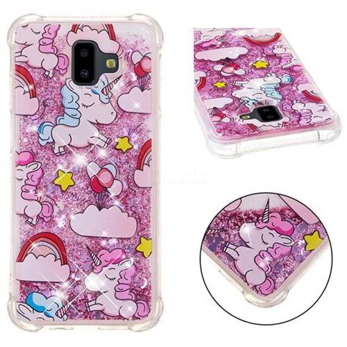 Angel Pony Dynamic Liquid Glitter Sand Quicksand Star TPU Case for Samsung Galaxy J6 Plus / J6 Prime