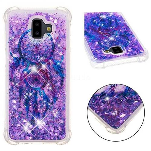 Retro Wind Chimes Dynamic Liquid Glitter Sand Quicksand Star TPU Case for Samsung Galaxy J6 Plus / J6 Prime