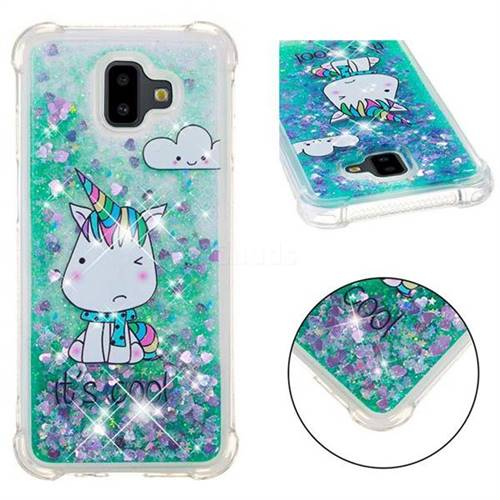 Tiny Unicorn Dynamic Liquid Glitter Sand Quicksand Star TPU Case for Samsung Galaxy J6 Plus / J6 Prime