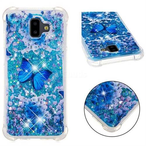 Flower Butterfly Dynamic Liquid Glitter Sand Quicksand Star TPU Case for Samsung Galaxy J6 Plus / J6 Prime