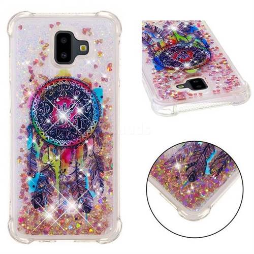 Seal Wind Chimes Dynamic Liquid Glitter Sand Quicksand Star TPU Case for Samsung Galaxy J6 Plus / J6 Prime