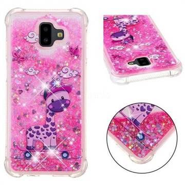 Skateboard Deer Dynamic Liquid Glitter Sand Quicksand Star TPU Case for Samsung Galaxy J6 Plus / J6 Prime