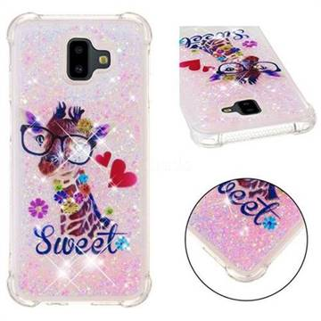 Sweet Deer Dynamic Liquid Glitter Sand Quicksand Star TPU Case for Samsung Galaxy J6 Plus / J6 Prime