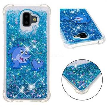 Happy Dolphin Dynamic Liquid Glitter Sand Quicksand Star TPU Case for Samsung Galaxy J6 Plus / J6 Prime