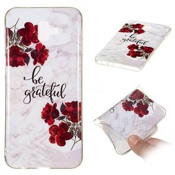 Rose Soft TPU Marble Pattern Phone Case for Samsung Galaxy J6 Plus / J6 Prime