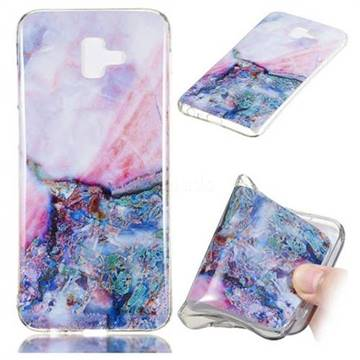 Purple Amber Soft TPU Marble Pattern Phone Case for Samsung Galaxy J6 Plus / J6 Prime