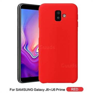 best website 6df4b db4a4 Howmak Slim Liquid Silicone Rubber Shockproof Phone Case Cover for Samsung  Galaxy J6 Plus / J6 Prime - Red