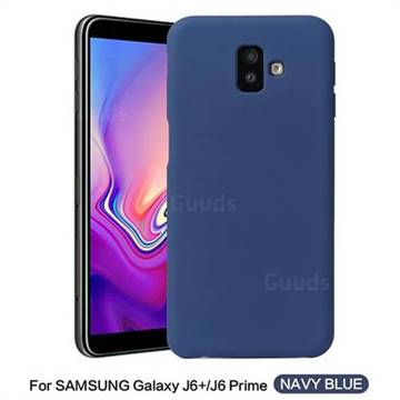 new arrival 43c10 8757b Howmak Slim Liquid Silicone Rubber Shockproof Phone Case Cover for Samsung  Galaxy J6 Plus / J6 Prime - Midnight Blue