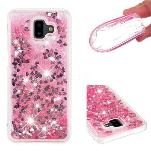 Dynamic Liquid Glitter Quicksand Sequins TPU Phone Case for Samsung Galaxy J6 Plus / J6 Prime - Rose