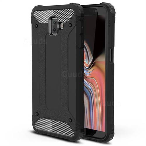 King Kong Armor Premium Shockproof Dual Layer Rugged Hard Cover for Samsung Galaxy J6 Plus / J6 Prime - Black Gold