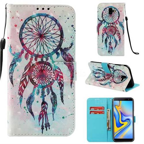 ColorDrops Wind Chimes 3D Painted Leather Wallet Case for Samsung Galaxy J6 Plus / J6 Prime