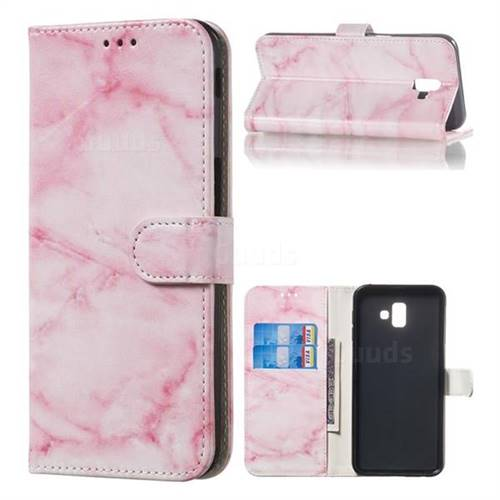 Pink Marble PU Leather Wallet Case for Samsung Galaxy J6 Plus / J6 Prime