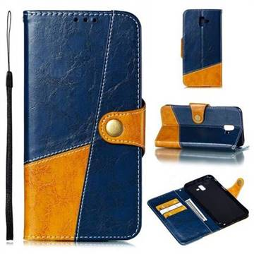 Retro Magnetic Stitching Wallet Flip Cover for Samsung Galaxy J6 Plus / J6 Prime - Blue