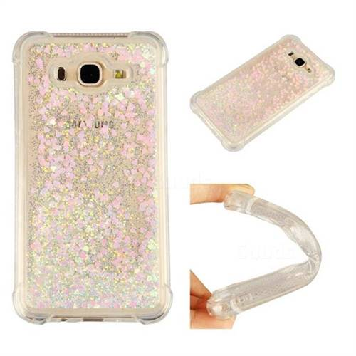 Dynamic Liquid Glitter Sand Quicksand Star TPU Case for Samsung Galaxy J7 2015 J700 - Pink