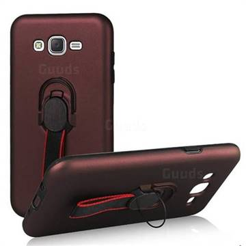 the latest b0b19 8e889 Raytheon Multi-function Ribbon Stand Back Cover for Samsung Galaxy J7 2015  J700 - Wine Red