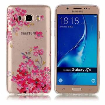 purchase cheap 3c66d e0abe Plum Blossom Bloom Super Clear Soft TPU Back Cover for Samsung Galaxy J7  2016 J710