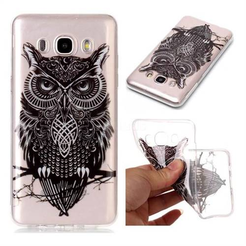 Staring Owl Super Clear Soft TPU Back Cover for Samsung Galaxy J7 2016 J710