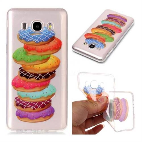 Melaleuca Donuts Super Clear Soft TPU Back Cover for Samsung Galaxy J7 2016 J710