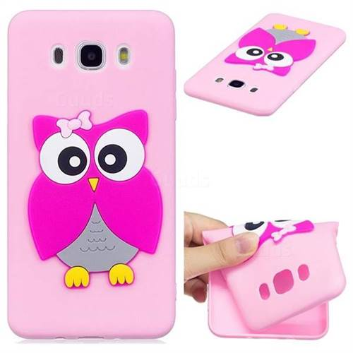 Pink Owl Soft 3D Silicone Case for Samsung Galaxy J7 2016 J710