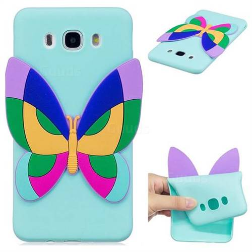 Rainbow Butterfly Soft 3D Silicone Case for Samsung Galaxy J7 2016 J710