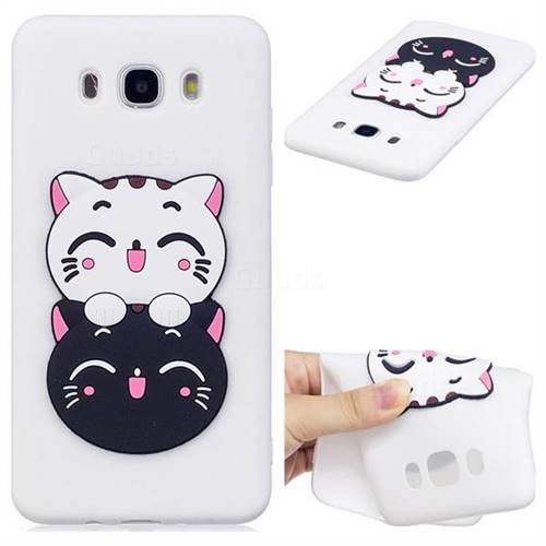 Couple Cats Soft 3D Silicone Case for Samsung Galaxy J7 2016 J710