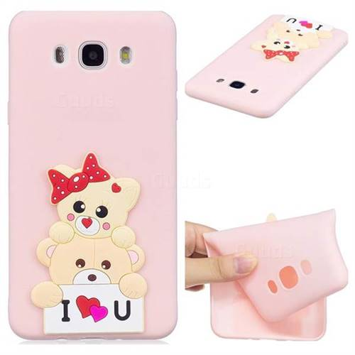 Love Bear Soft 3D Silicone Case for Samsung Galaxy J7 2016 J710