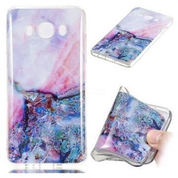 Purple Amber Soft TPU Marble Pattern Phone Case for Samsung Galaxy J7 2016 J710