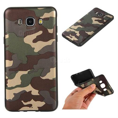 Camouflage Soft TPU Back Cover for Samsung Galaxy J7 2016 J710 - Gold Green