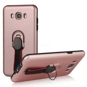 Raytheon Multi-function Ribbon Stand Back Cover for Samsung Galaxy J7 2016 J710 - Rose Gold