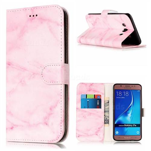 Pink Marble PU Leather Wallet Case for Samsung Galaxy J7 2016 J710
