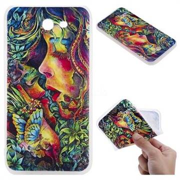 Butterfly Kiss 3D Relief Matte Soft TPU Back Cover for Samsung Galaxy J7 2017 Halo US Edition