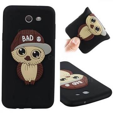 Bad Boy Owl Soft 3D Silicone Case for Samsung Galaxy J7 2017 Halo US Edition - Black